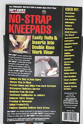SoftKnees Strapless Knee Pad Inserts fit Carhartt , Key - 1010, Working Concepts