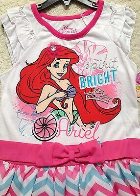 Bow /& Bracelet New Ready Made Turquoise Princess Ariel Dress Toddler//Girls