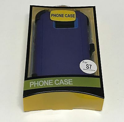 For Samsung Galaxy S7 Defender Case (Belt Clip Fits Otterbox) 9