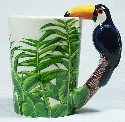 Ceramic Mug TOUCAN Bird in Rain Forest 9319844520058 RAINFTOUM Gift Box 2