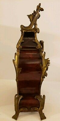 Antique 1855 V. Depose French Boulle Victorian Red Shell Bracket Mantel Clock 10