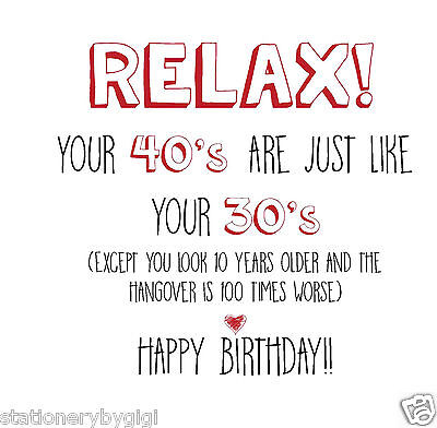 Funny Rude Alternative Sarcastic Birthday Card 40th Birthday