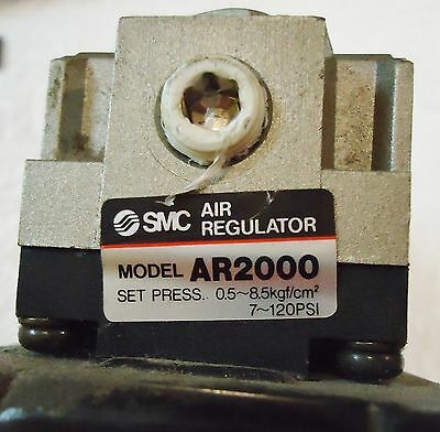 SMC AIR REGULATOR MODEL# VXD2130, SET PRESS: 0.5-8.5 Kgf/cm/2, 7,,,120 PSI 3