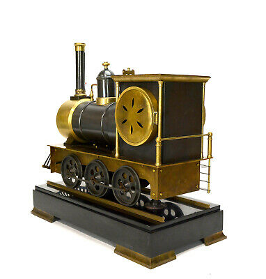 Large French Style 8 Day Brass Automaton Locomotive Industrial Train Clock 5