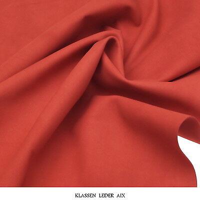 Lammleder 0,9 mm Dick Veloursleder Bordo Metallic Stück Echt Leder Haut Leather