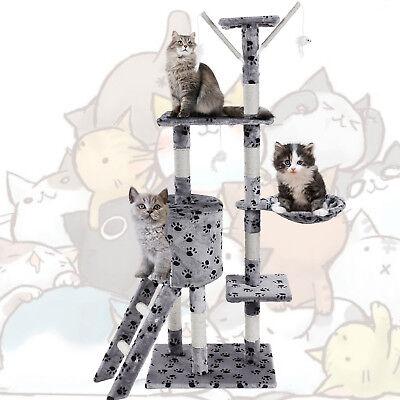 🐈JL Comfurni Cat Tree Sisal Scratching Post Kitten Scratcher Nest Tower High 4
