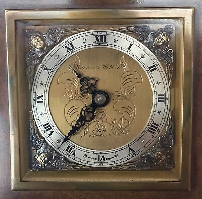 ELLIOTT LONDON Walnut & Burr Walnut Bracket Mantel Clock MAPPIN & WEBB LTD 8