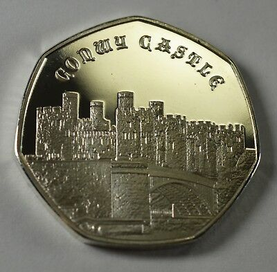 Pair of CONWY CASTLE Commemoratives. 24ct Gold. Silver. Albums/Filler NEW 2019 6