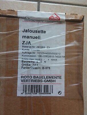 1 x Roto Jalousette ZJA 554813 Gr 7//11 weiss A-609 Dachfenster NEU Jalousie