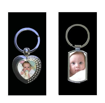 Personalised custom Printed / Engraved Metal Keyring Photo & text in Gift box 2