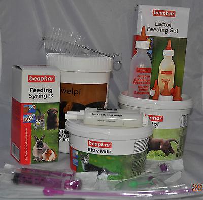 Puppy Kitten Complete Feeding Set Welpi Lactol Milk Bottle Feeding Tube Whelping 2