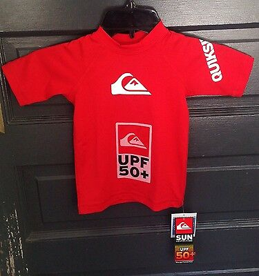 f77154e316 ... Quiksilver Baby All Time Red Short Sleeve Rashguard UPF 50+ NEW Size 24  Months 2