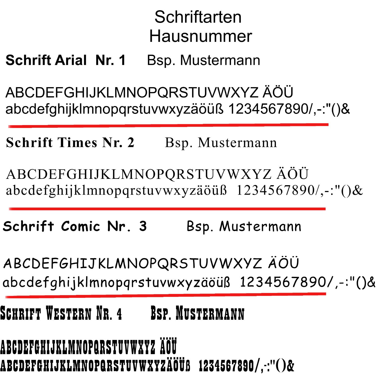 Feiner-Tropfen Hausnummer Schiefer Gravur BK Anker schwarz anthrazit Edelstahl