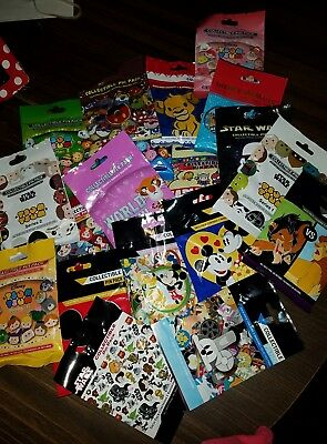 Disney Pins AUTHENTIC Random Mystery Packs ~ 25 pins ~ 5 PACKS SEALED L@@K