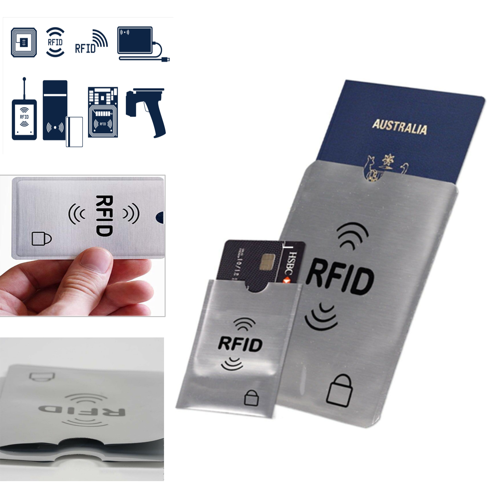 RFID Blocking Sleeve Secure Credit Card ID Protector Anti Scan Safet AU 5