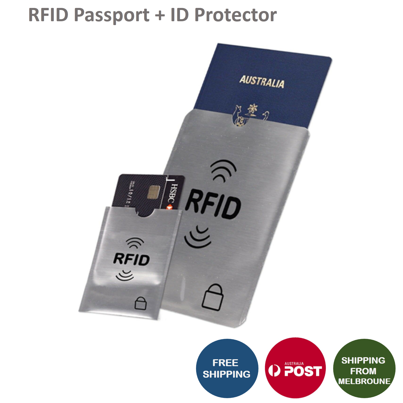 RFID Blocking Sleeve Secure Credit Card ID Protector Anti Scan Safet AU 2