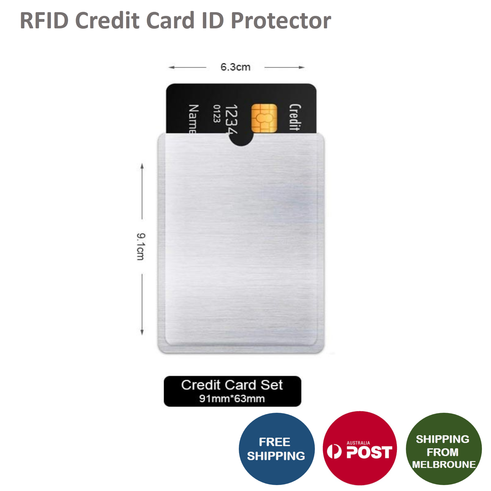 RFID Blocking Sleeve Secure Credit Card ID Protector Anti Scan Safet AU 4