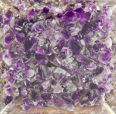 Large-70mm Amethyst Crown Chakar Orgone Pyramid EMFProtection FengShui USASeller 2