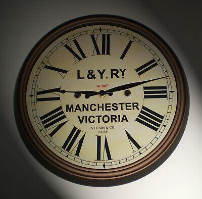 Lancashire & Yorkshire Railway, LYR Victorian Style Clock, Manchester Victoria. 2
