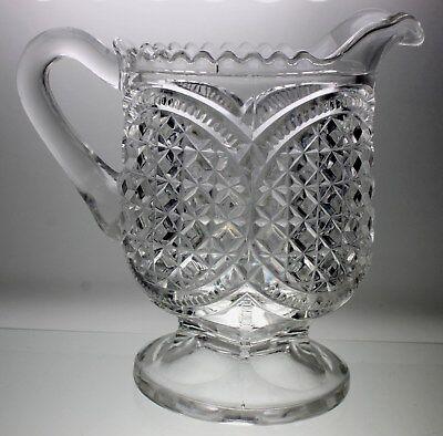Antique American Brilliant Period Creamer PRESSED Glass 5