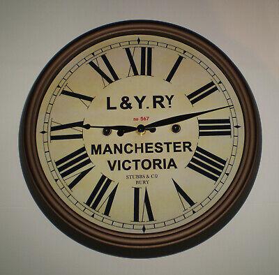 Lancashire & Yorkshire Railway, LYR Victorian Style Clock, Manchester Victoria. 3