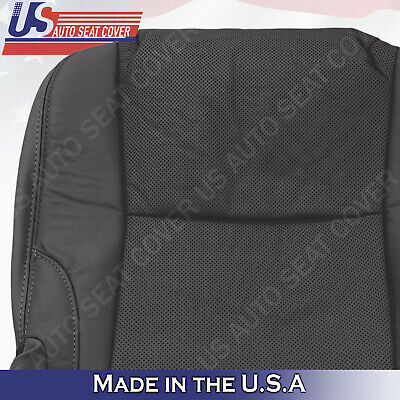 Perforated Leather Fits 2009 Lexus IS250 IS350 Driver Bottom Seat Cover Black