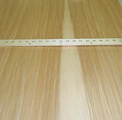 """Hickory Pecan Quarter Cut wood veneer 24/"""" x 24/"""" with wood backer 1//25th thick"""