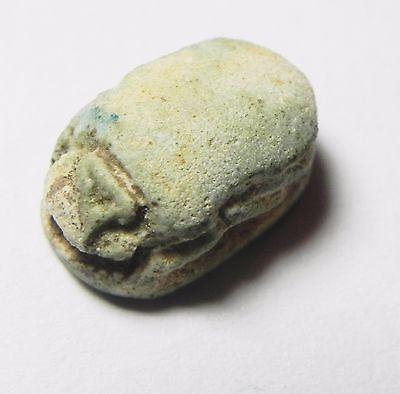 Zurqieh -Af615-  Ancient Egypt, New Kingdom. Stone Scarab 1400 B.c. 3