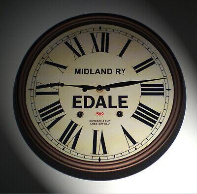 Midland Railway, MR Victorian Style Wall Clock, Edale Station. 2