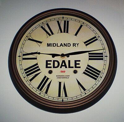 Midland Railway, MR Victorian Style Wall Clock, Edale Station. 3