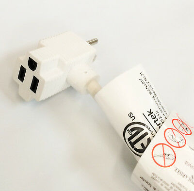 5 Pack 1-Ft Indoor 2 Outlet 14AWG/3SJT 15A Power Extension Cable ETL Listed 2