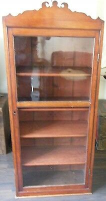 ANTIQUE CHEIMIST SHOP DISPLAY CABINET LIBRARY BOOKCASE COLLECTORS CABINT c1890 3
