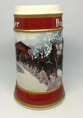 2019 Budweiser Holiday stein beer mug frm annual Christmas series WINTER PASSAGE 6
