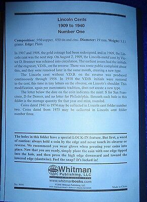 Whitman Lincoln Cent #1 & 2 1909-1974 Coin Folders, Albums Books 6