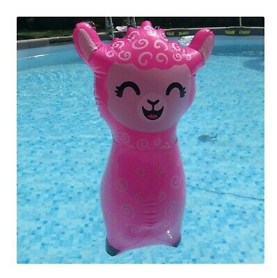 """24/"""" Hot Pink Alpaca Inflate Blow Up Toy Party Decoration Llama Inflatable"""