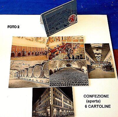 Confezione Con Custodia Di 6 Cartoline Pubblicitarie Cinzano Anni 50 Originali