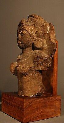 Sandstone Bust Of An Aspara 14Th - 15Th Century A.d.