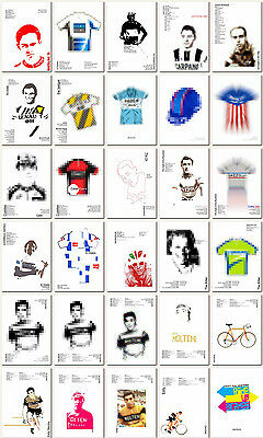 Fausto Coppi #5 ❤ Cycling poster limited edition print vintage L/'Eroica chic