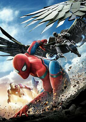 Marvel Spiderman Homecoming: Vulture, Iron man  A5 A4 A3 Textless Movie Posters 3