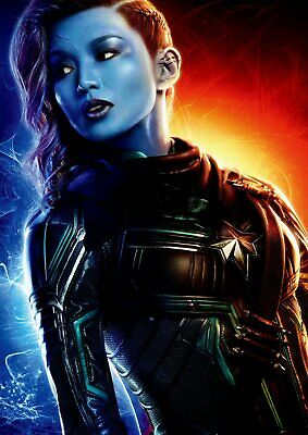 Captain Marvel: Goose, Carol Danvers Yon-Rogg A5 A4 A3 Texless Character Posters 7