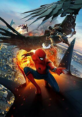 Marvel Spiderman Homecoming: Vulture, Iron man  A5 A4 A3 Textless Movie Posters 5