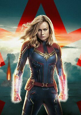 Marvel Comics: Captain Marvel  A5 A4 A3 Textless Movie Poster 3