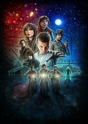 STRANGER THINGS: Demogorgon, Eleven, Dustin, Mike   A5 A4 A3 Textless Poster 3