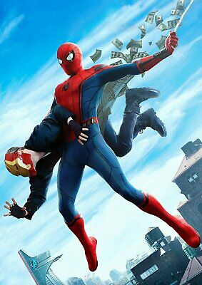 Marvel Spiderman Homecoming: Vulture, Iron man  A5 A4 A3 Textless Movie Posters 2