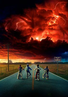 STRANGER THINGS: Demogorgon, Eleven, Dustin, Mike   A5 A4 A3 Textless Poster 5