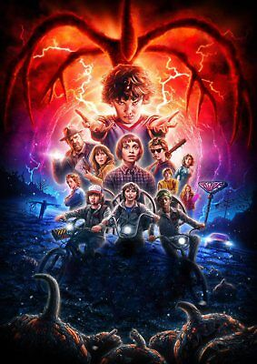 STRANGER THINGS: Demogorgon, Eleven, Dustin, Mike   A5 A4 A3 Textless Poster 2