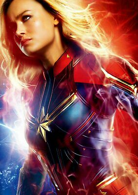 Captain Marvel: Goose, Carol Danvers Yon-Rogg A5 A4 A3 Texless Character Posters 2