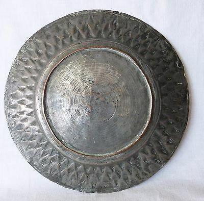 Antique COPPER Metal Dish Tray Soldier Army Serving – Goth Medieval 1700s, Greek 3