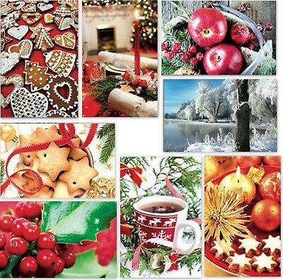 gute Auswahl an Weihnachtskarten,Glückwunschkarten mit Umschlag, Blitzversand 6