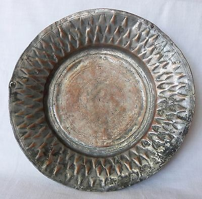 Antique COPPER Metal Dish Tray Soldier Army Serving – Goth Medieval 1700s, Greek 6